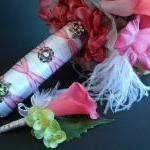 Pink Bridal Bouquet and Bou..
